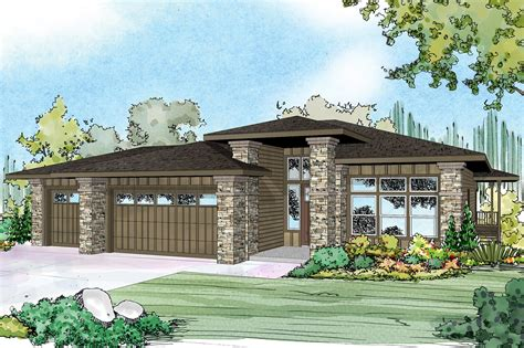 prairie style house plan river 30 947 front
