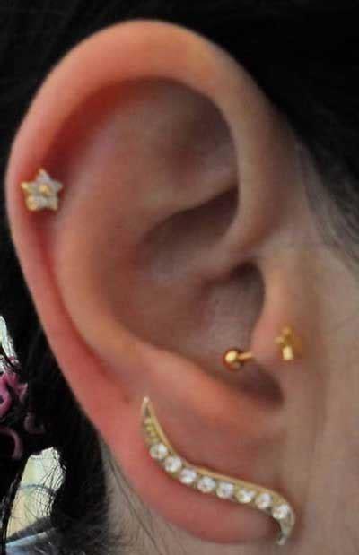 fotos de piercings de ouro modelos de joias