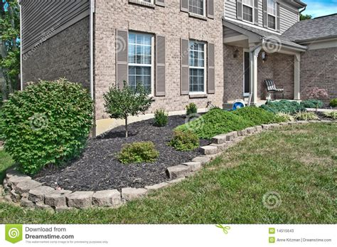 landscaping brick brick home landscaping beds stock photos image 14515643