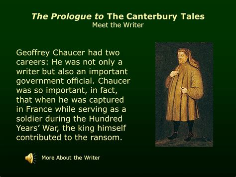 the prologue to the canterbury tales by geoffrey chaucer ppt