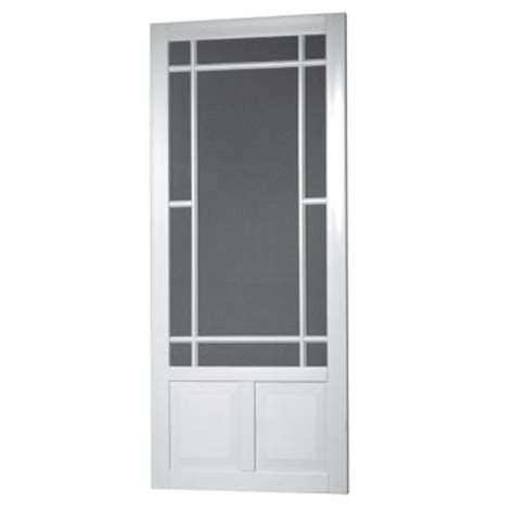 home depot wooden screen doors screen tight 36 in x 80 in prairie view solid vinyl
