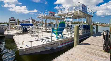 Pontoon Boats With Slides by Pontoon Boat With Slide Rentals Happy Harbors