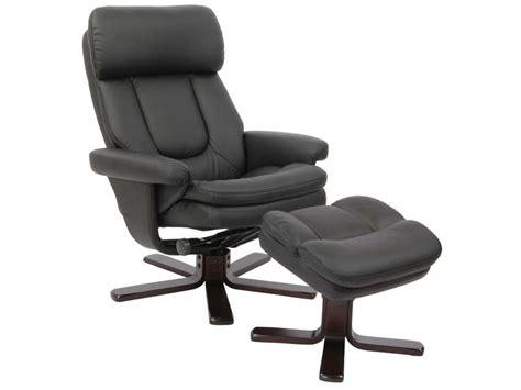 fauteuil de bureau stressless fauteuil relaxation repose pieds charles coloris noir en