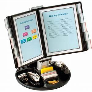 executive rotary base flip and find display carousel by With flip and find document holder