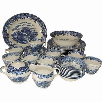 China English Dinnerware Staffordshire Village Salem