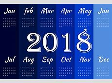 2018 Happy New Year Calendars Pictures Printable