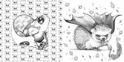 Coloring Pop Creepy Manga Camilla Errico Antistresove