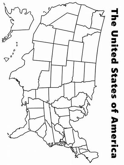 Coloring Map Pages State Printable United Recommended