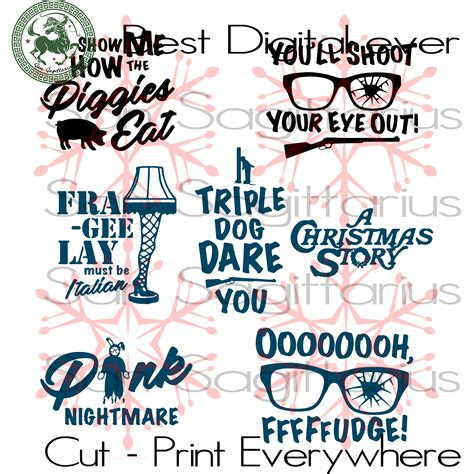 Free svg lacrosse layouts svg cut file. Christmas Story Funny Movie Quote Christmas Decor Svg File ...