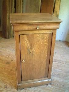table de nuit lp en chene clair ancienne antiquites With table de nuit ancienne