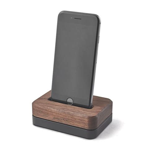 iphone 6 station wood iphone docks solid metal bases for 7 se 5 6 6s plus