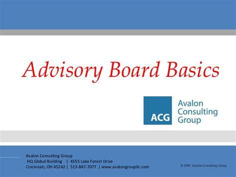 advisory board basics