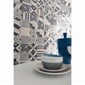 Dalle Pvc Imitation Carreaux De Ciment : 5 m de carrelage imitation ciment gris 20x20 achat ~ Dailycaller-alerts.com Idées de Décoration