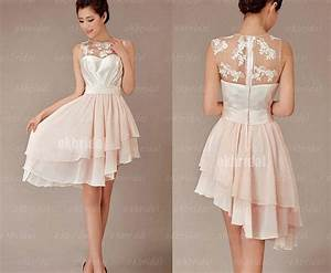 lace bridesmaid dress champagne bridesmaid dress cheap With champagne lace short wedding dress