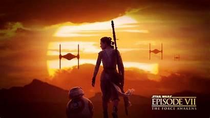 Wars Star Episode Wallpapers Backgrounds Force Awakens