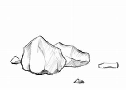 Rock Stone Draw Rocks Drawing Clipart Rough