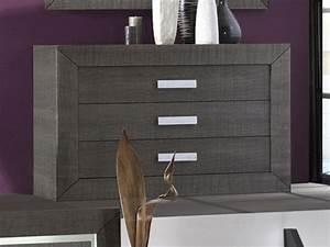 Commode Grise Ikea : commode grise anthracite lima ~ Melissatoandfro.com Idées de Décoration