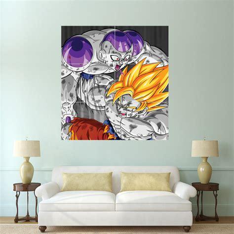 z wall decorations z goku vs frieza wand kunstdruck riesenposter