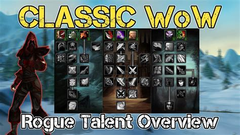 rogue wow classic talents