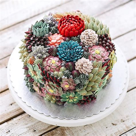 Wedding Cake Trend Terrarium And Succulent Wedding Cakes