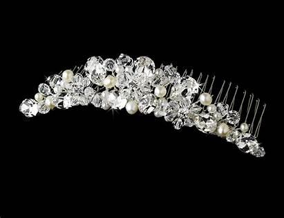 Bridal Combs Pearl Tiara Crystal Tiaras Comb