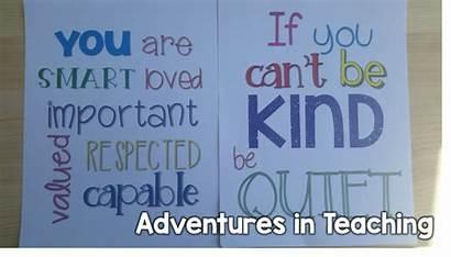 Inspirational Motivational Quotes Grade Classroom Quote Adventuresinteachingblog