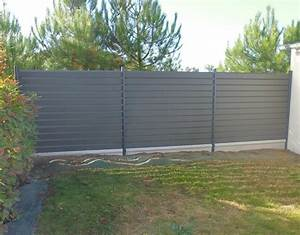 Cloture Alu Sur Muret : cloture muret aluminium clotures bois composite with ~ Dailycaller-alerts.com Idées de Décoration