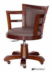 Fauteuil Cuir Bureau : fauteuil bureau bois ~ Teatrodelosmanantiales.com Idées de Décoration