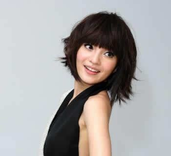 beautiful asia women  short hairstyles