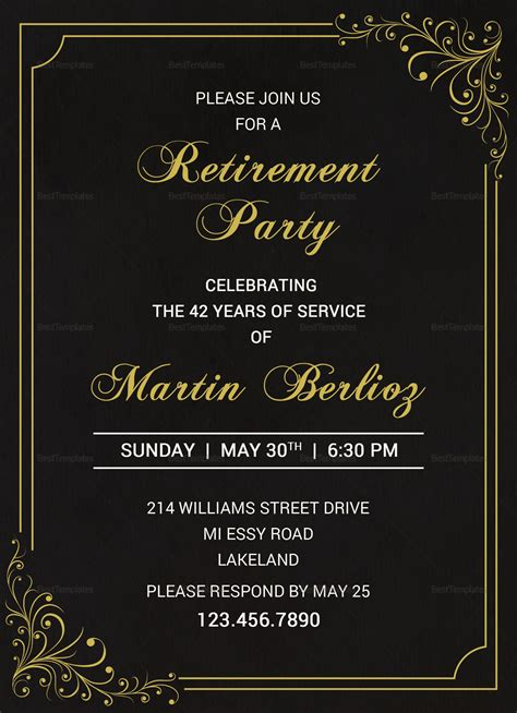 black gold invitation template Gnepo