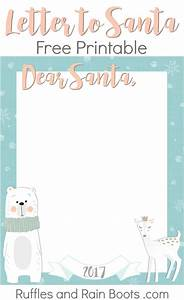 letter to santa free printable 2017 ruffles and rain boots With santa letters 2017