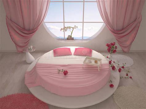 chambre a coucher avec lit rond chambre à coucher avec un lit rond illustration stock