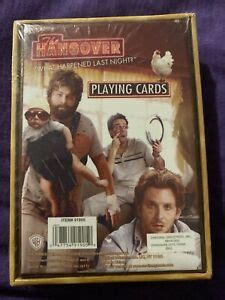 hangover brand sealed deck   playing cards ebay