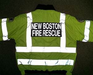 reflective letters lettering and logo heat transfer With reflective letters for fire gear