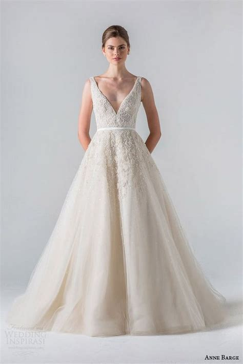 100 Sexy V neck Wedding Dresses You?ll Love ? Hi Miss Puff