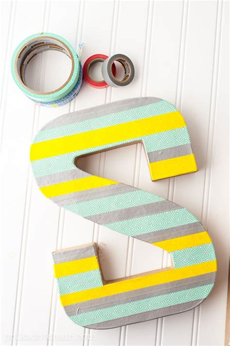 diy washi tape letter craft create sewing room decor