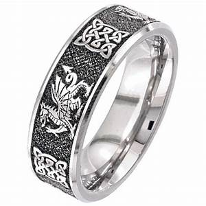 welsh dragon celtic titanium wedding ring titanium rings With welsh wedding rings