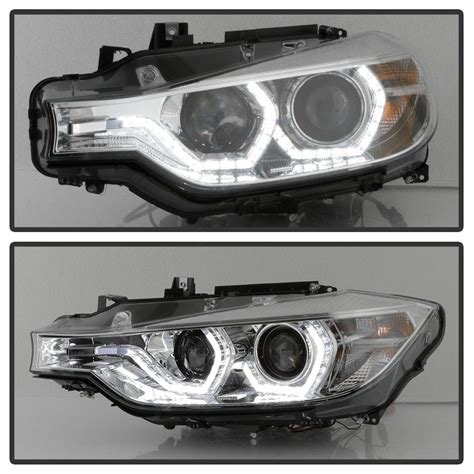 Bmw Led Headlights by 12 15 Bmw 3 Series F30 Halo Led Drl Projector Headlights