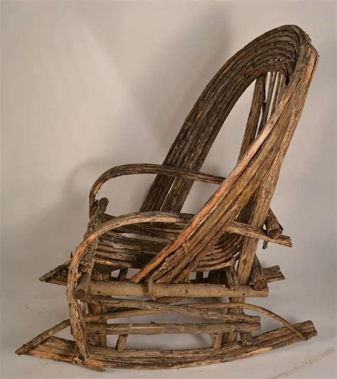 adirondack twig rocking chair for sale at 1stdibs
