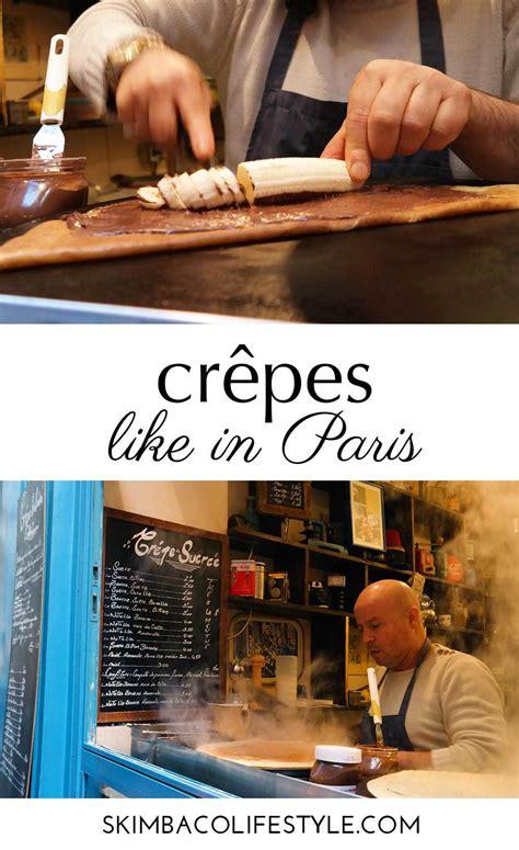 culinary postcard  crepes   paris skimbaco