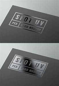 spot, uv, logo, mockup