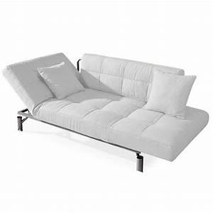 convertible design monaco blanc canape lit 1 achat With canapé lit une personne