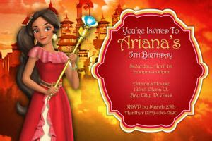 princess elena  avalor invitations birthday party