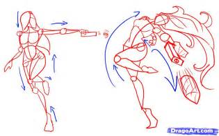 How to Draw Anime Fighting Poses