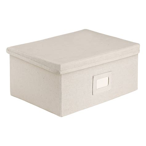 canvas storage boxes with lids the container store
