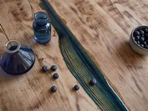 Epoxidharz Tisch Anleitung : diy anleitung astl cher in tischplatte mit kunstharz ausgie en via kunstharz diy ~ One.caynefoto.club Haus und Dekorationen