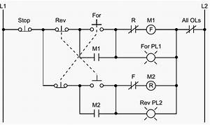 Plc Implementation Of Forward  Reverse Motor Cicuit With Interlocking