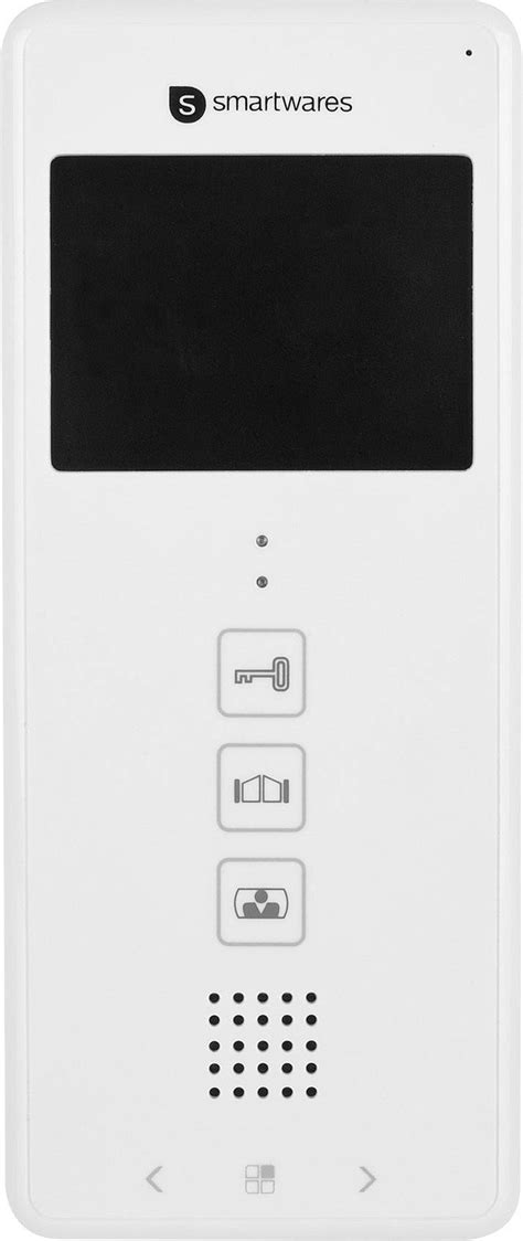 smartwares dic  video door intercom  wire indoor panel white conradcom
