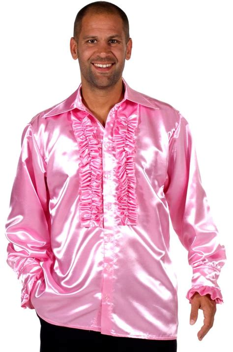 mens satin shirt pink costumes pinterest pink