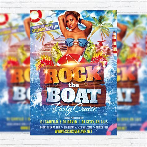 Rock The Boat Cover by Rock The Boat Premium Flyer Template Cover